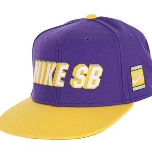 NIKE SB X NBA ICON Snapback CAP - LA Laker Colors